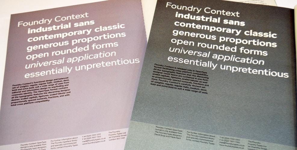 Foundry Context Grafik ads.