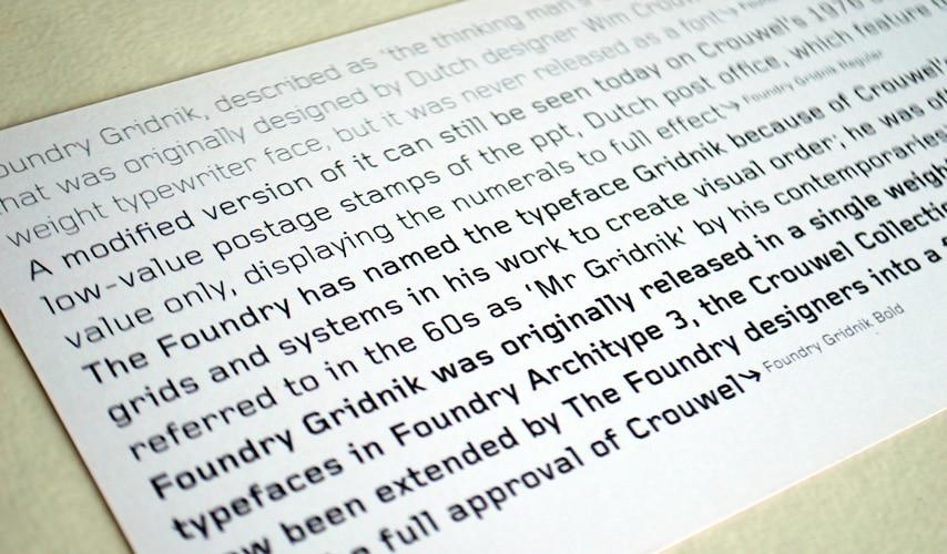 Foundry Gridnik flyer reverse text.