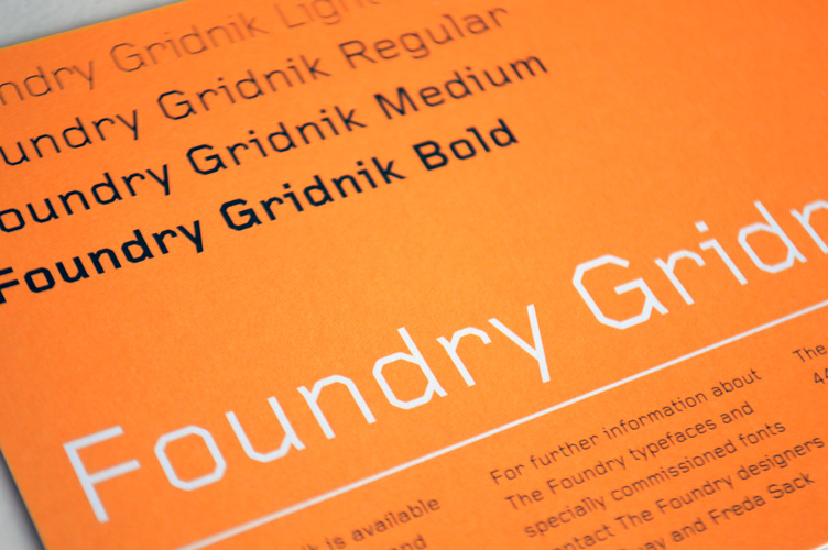 Foundry Gridnik flyer front.