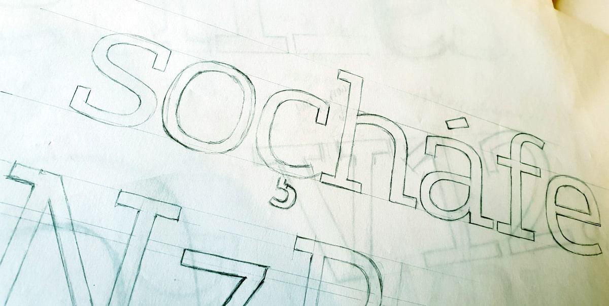 Foundry Origin 'soçhafe' rough sketch.