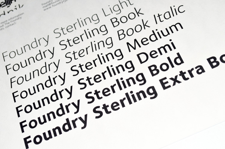 Foundry Sterling flyer reverse text.