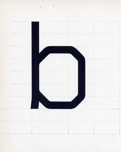 Wim Crouwel's Gridnik lowercase 'b'.