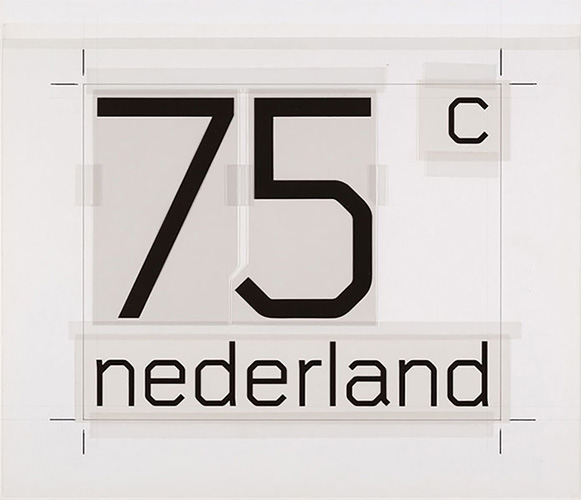 Wim Crouwel's artwork ready for the Dutch Postage Stamps.