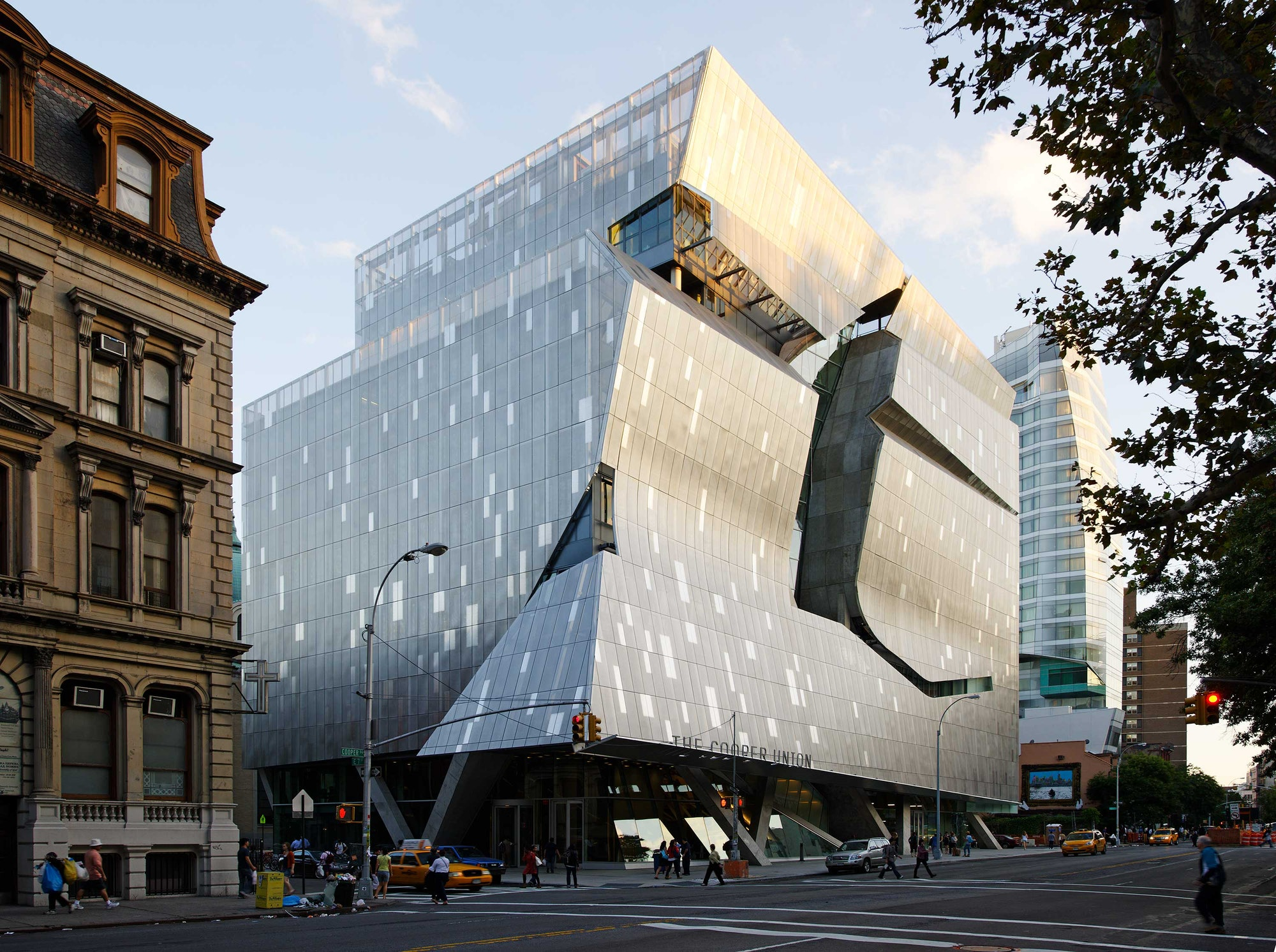 The Cooper Union's new academic building at 41 Cooper Square.