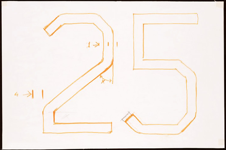 Wim Crouwel's rough draft for the Dutch Postage Stamps.