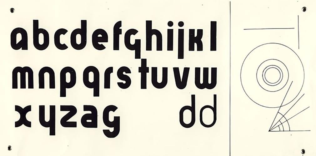 Bayer, 'universal' alphabet, 1925.