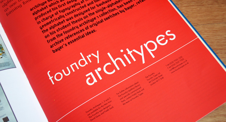 Architype Renner, Graphics International 92, Feb 2002, p29.