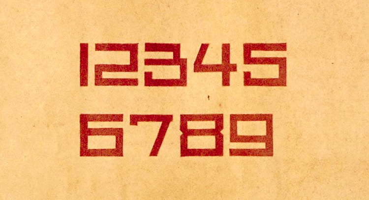 Van Doesberg's numerals for the Café Aubette, Strasbourg.