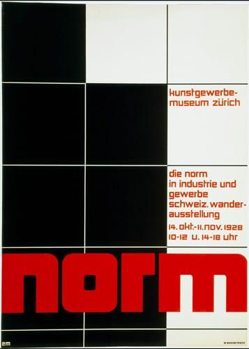 Ballmer, 'Norm', poster for an exhibition of Swiss Kunstgewerbemuseum Zürich, 1928.