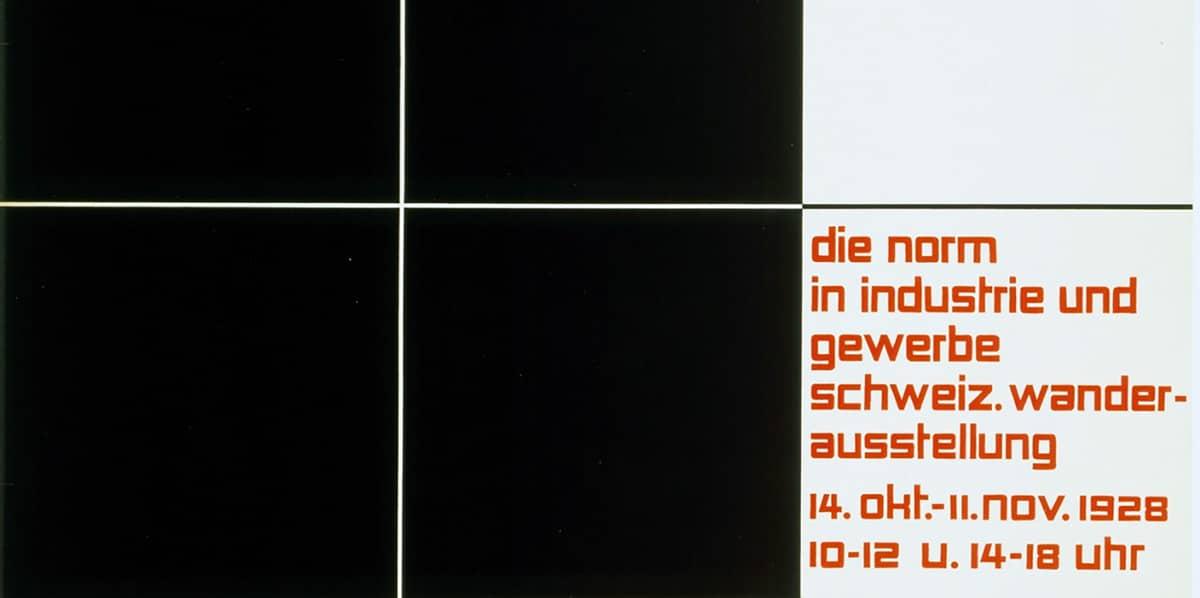 Ballmer, Norm (Poster for an exhibition of Swiss Kunstgewerbemuseum Zürich), 1928.