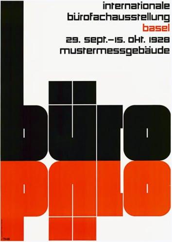Ballmer, 'büro', poster for a Basel office design exhibition, 1928.