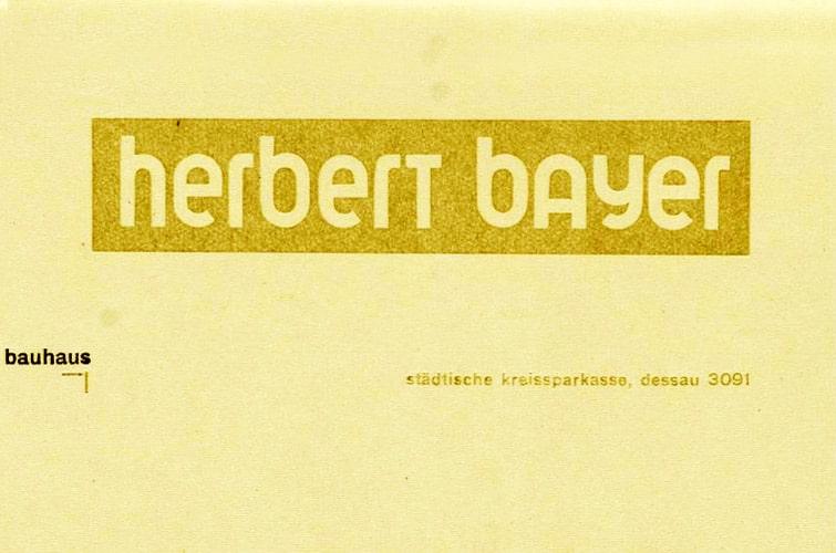 Herbert Bayer, letterhead, 1925.