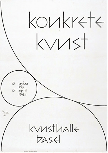 Max Bill's, 'Konkrete Kunst Kunsthalle', 1944.