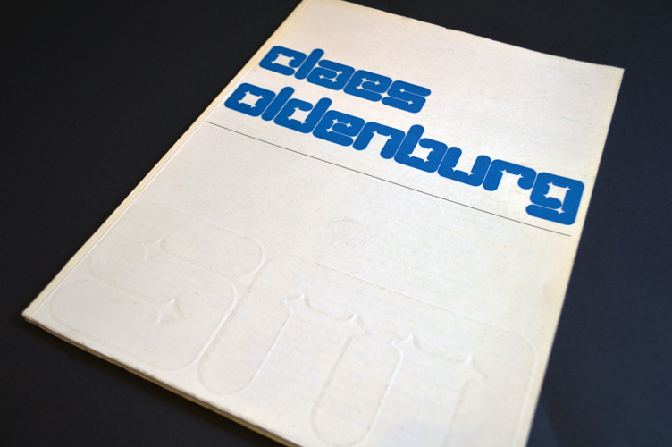 Wim Crouwel's catalogue for Claes Oldenburg, 1970.