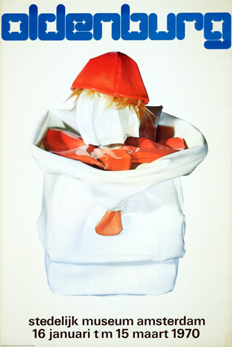 Wim Crouwel's poster for Claes Oldenburg, 1970.