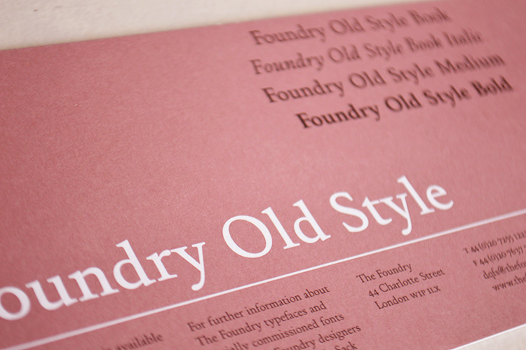 Foundry Old Style flyer front.