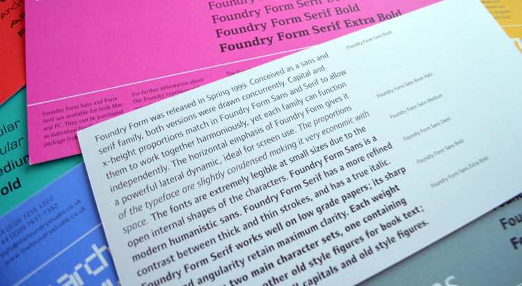Foundry Form Sans Flyer text