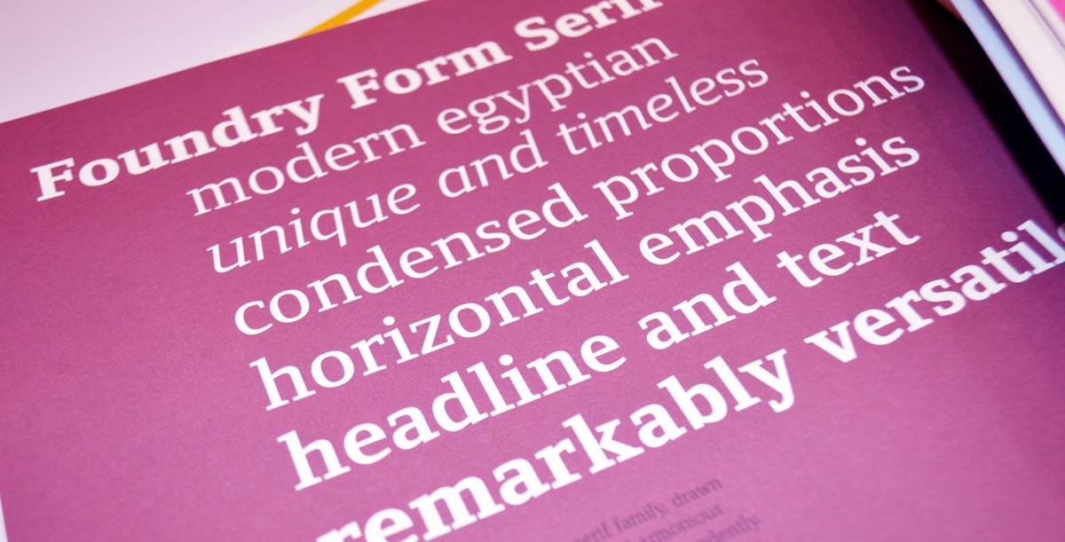 Foundry Form Serif, Grafik issue 150