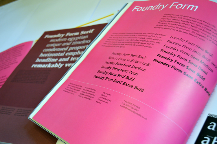 Foundry Form Serif Eye 31 Spring 1999, p.20