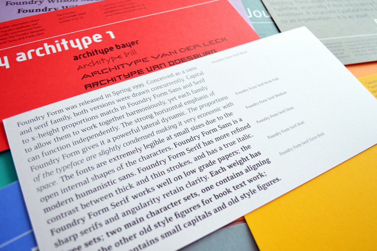 Foundry Form Serif printed back flyer.