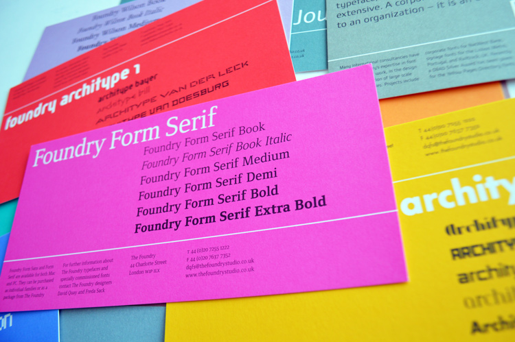 Foundry Form Serif Printed Front Flyer