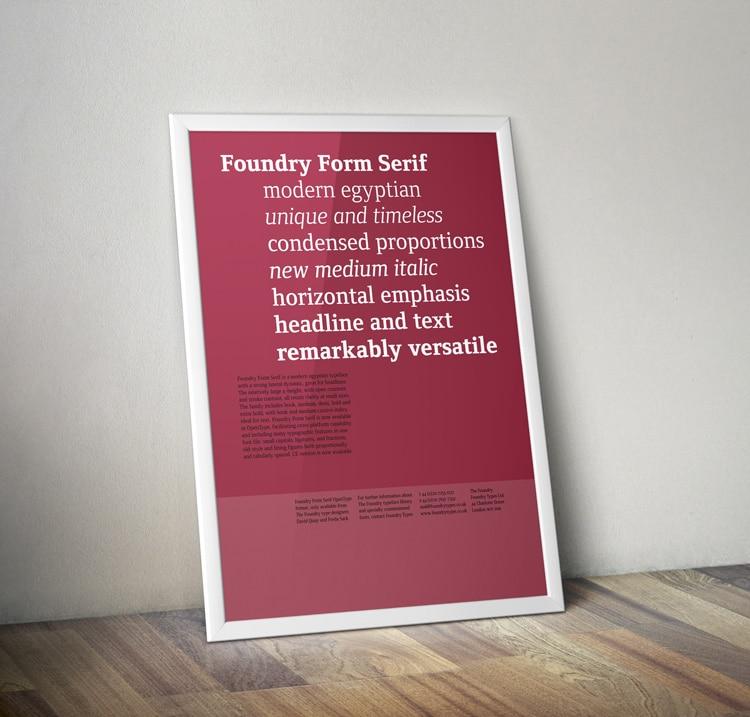 Form Serif Poster Framed