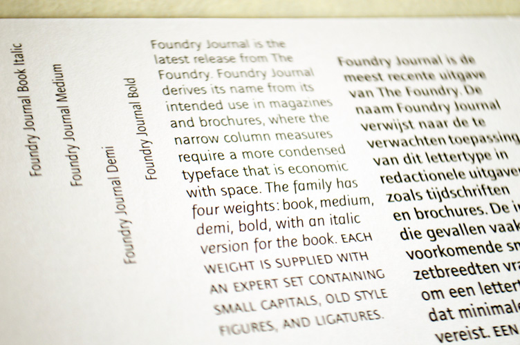 Foundry Journal flyer front detail
