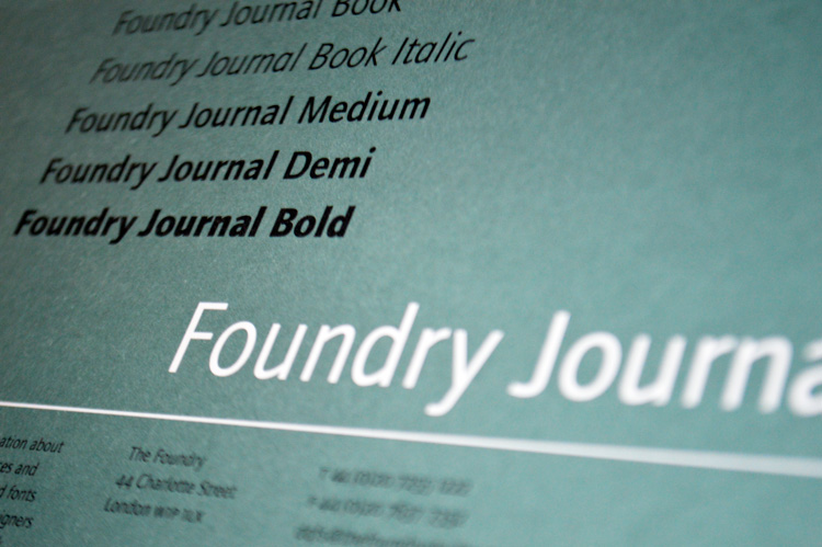 Foundry Journal flyer front