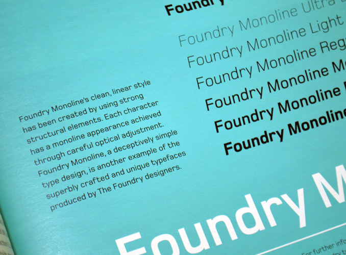 Foundry Monoline, Graphics International 104, Apr 2003, p.15.