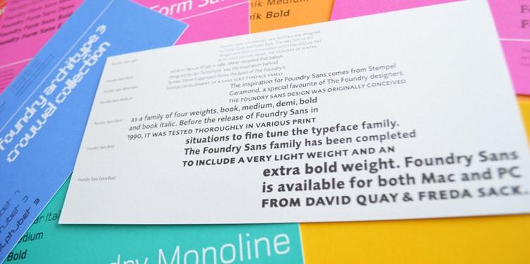 Foundry Sans flyer reverse