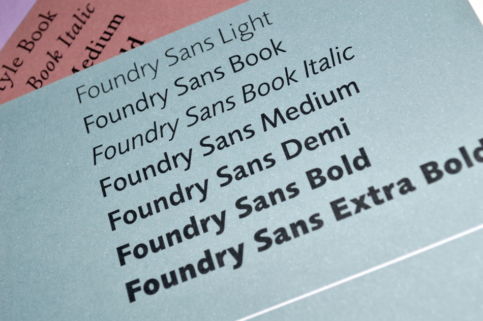 Foundry Sans flyer front