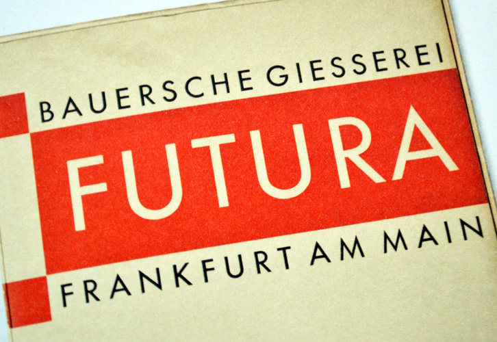 Futura, The Bauer Type Foundry, Frankfurt am Main, 1927