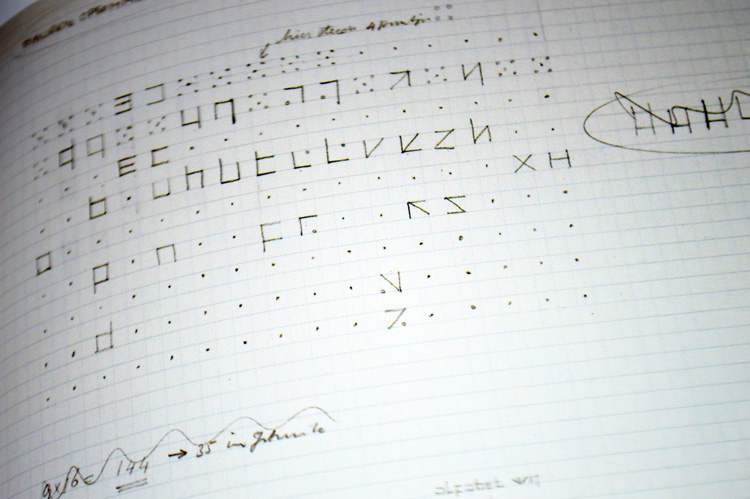 Wim Crouwel's original development sketches for New Alphabet.