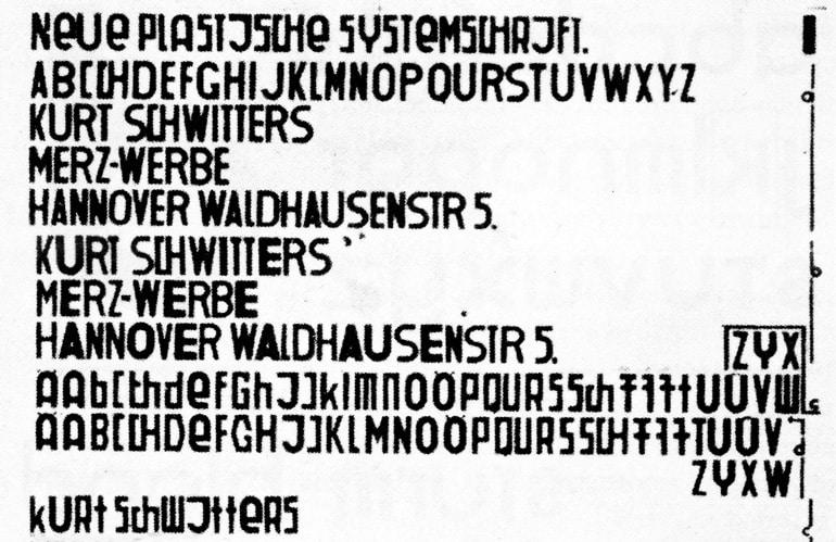 Schwitters Systemschrift 1927.