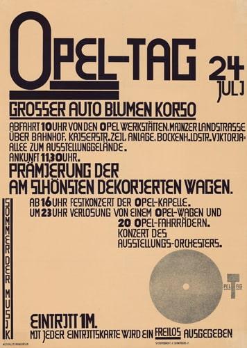 Kurt Schwitters, Opel-Tag, 1927