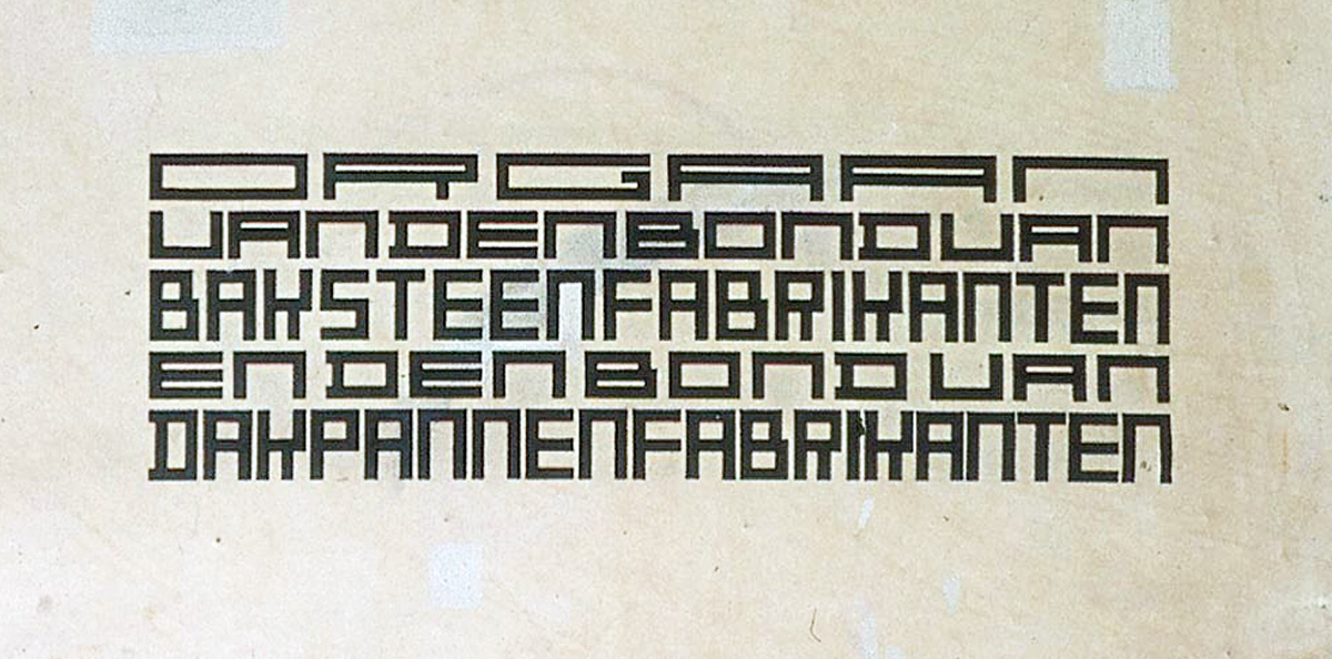 Van Doesberg's lettering for the Klei magazine 1919.