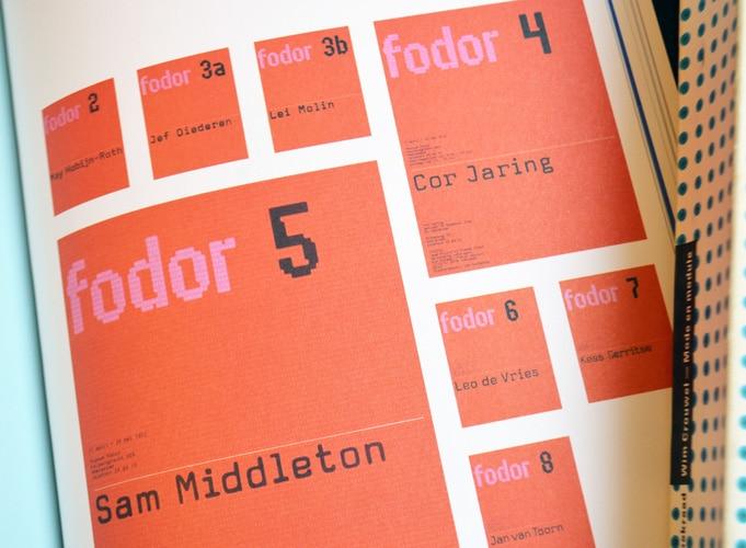 Wim Crouwel's 'Fodor Museum catalogue 2–8', 1972–73.