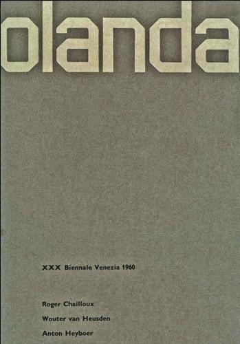Wim Crouwel's 'Olanda – XXX Biennale Venezia', 1960.