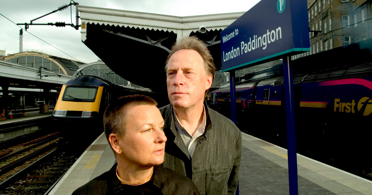 David and Freda at London Paddington
