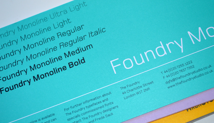 Foundry Monoline flyer front.