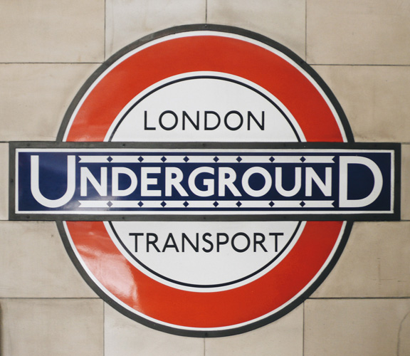 London Underground roundel by Edward Johnston