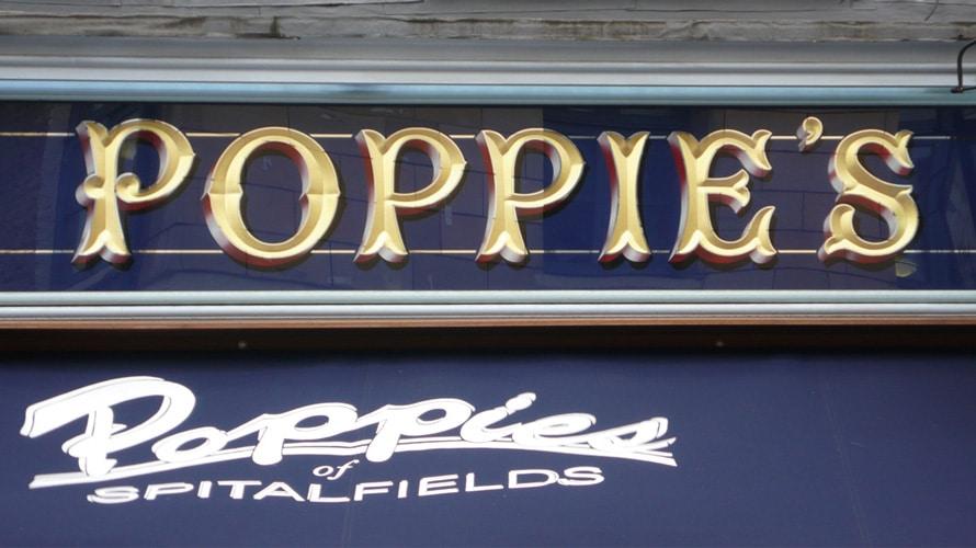 Poppie's modern pastiche of Victorian facia lettering.