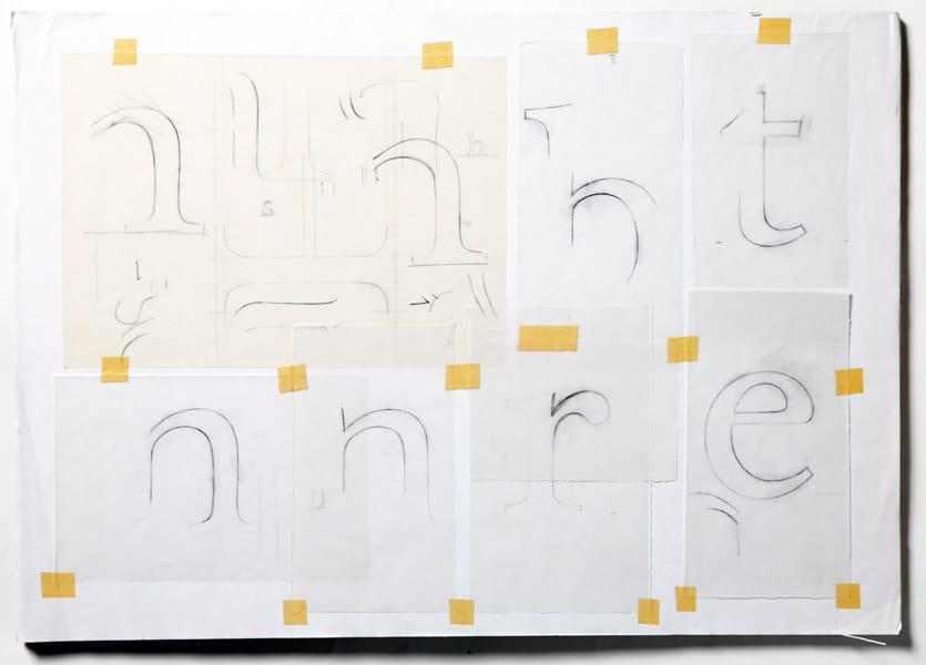 Freda's Foundry Wilson pencil development sketches.