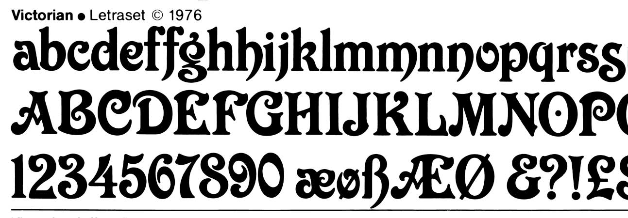 Letraset, Victorian 1976 line scan.