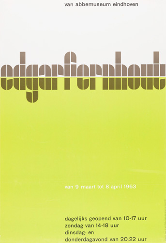 Wim Crouwel's 'edgarfernhout' poster for Van Abbemuseum, Eindhoven 1963.
