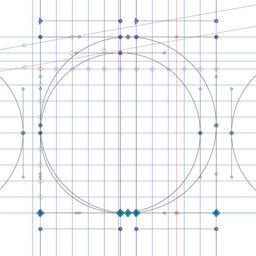 The grid behind the 'fernhout' typeface.
